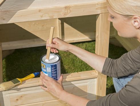Klettergerüst Holz Streichen : Wie streicht man ein kinderspielhaus und holzgeräte richtig? bondex