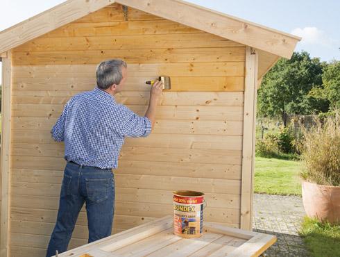 Lasur überstreichen wie streicht ein gartenhaus im außenbereich richtig bondex