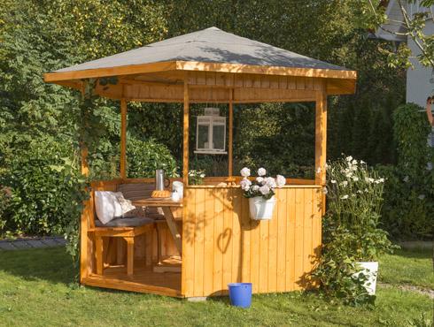 wie streicht man ein holzpavillon im au enbereich richtig. Black Bedroom Furniture Sets. Home Design Ideas