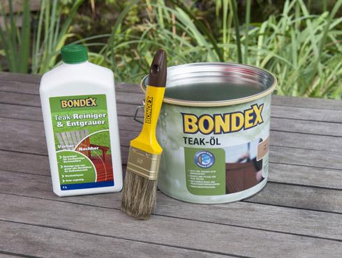 Wie reinigt und entgraut Teak Gartenmöbel richtig?   Bondex