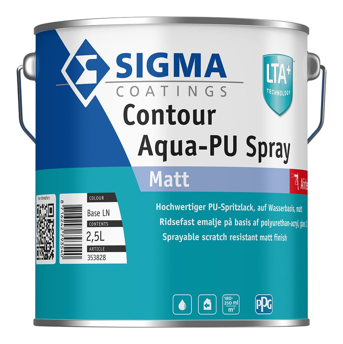 SIGMA Contour Aqua-PU Spray Matt