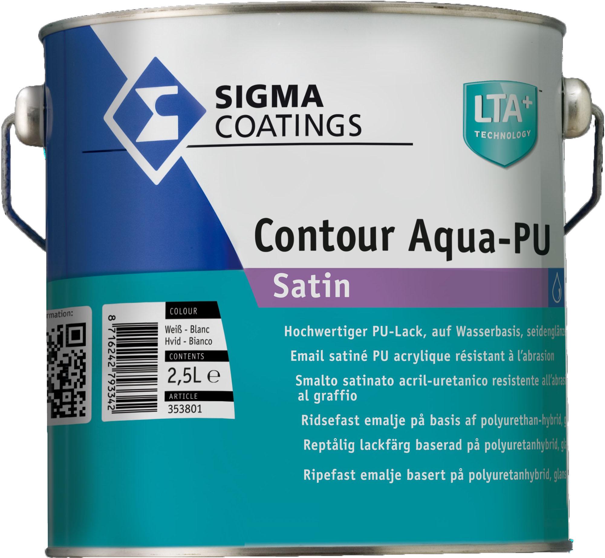 Contour Aqua PU Satin