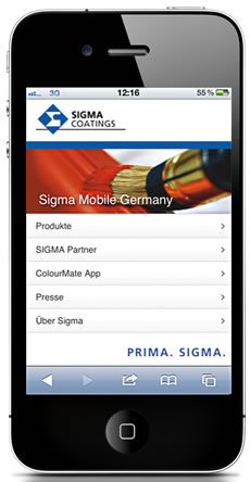 Sigma mobile Website