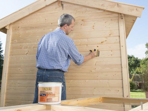 wie streicht man ein gartenhaus im außenbereich richtig? - bondex,