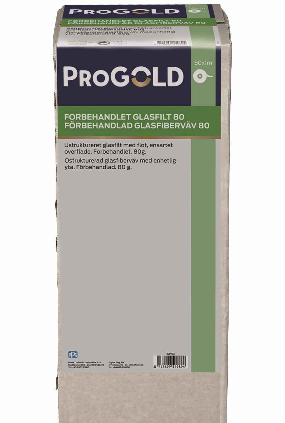 ProGold Grundet Glasfilt 80 gr.