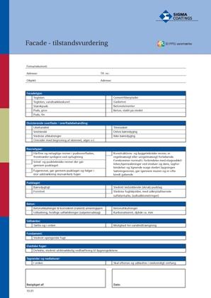 Download facade tilstandsvurderingsskema
