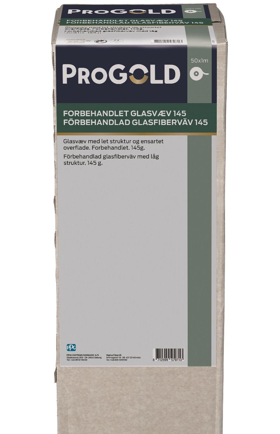 ProGold Grundet Glasvæv 145 gr.