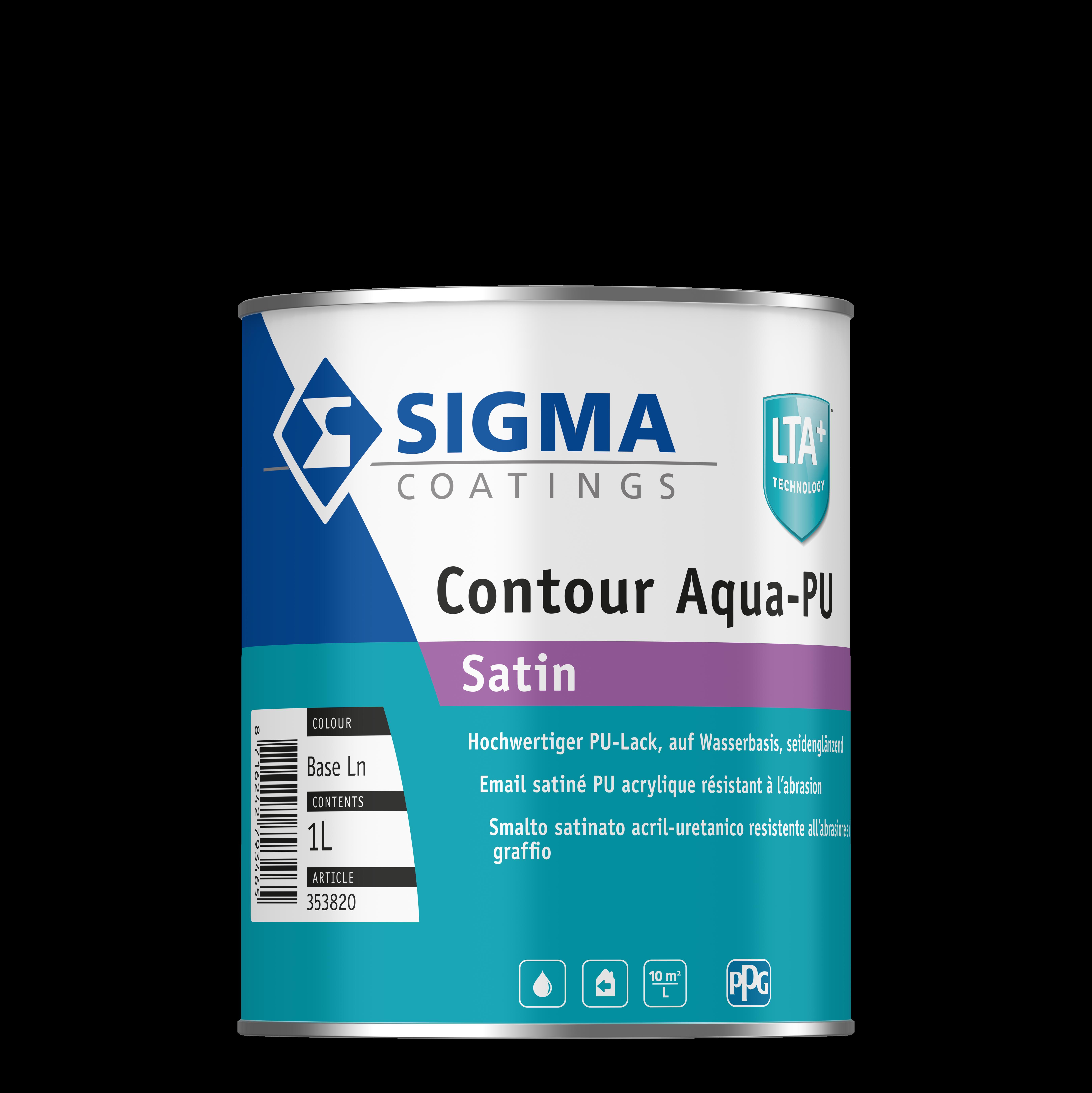 Sigma Contour Aqua-PU Satin