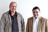 Malermeister Heinz-Dieter Wilden (links) und Reimund Beulen, PPG Coatings Fachberater Sigma/Gori im Rheinland