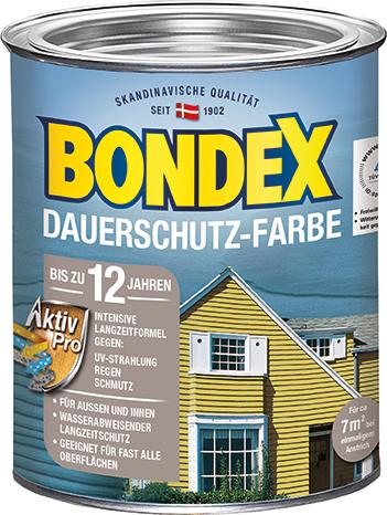 bondex dauerschutz farbe bis zu 12 jahren intensivschutz bondex. Black Bedroom Furniture Sets. Home Design Ideas